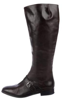 Kenzo Leather Knee-High Boots