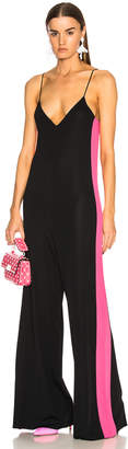 Valentino (ヴァレンティノ) - Valentino Stretch Viscose Jumpsuit with Contrast Bands