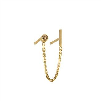 Irena Chmura Jewellery Stormy Diamond Double Earring Single