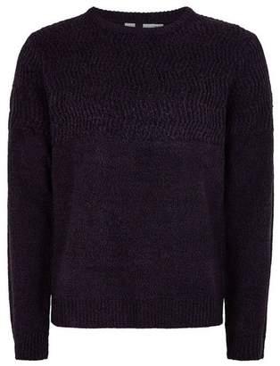 Topman Mens Purple And Black Zig Zag Sweater