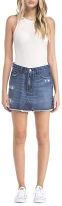EVIDNT Destructed Denim Skirt