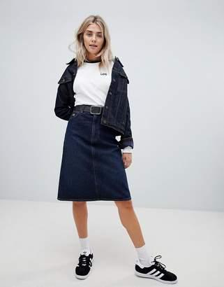Lee a line denim skirt