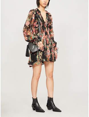 The Kooples Floral-print crepe dress