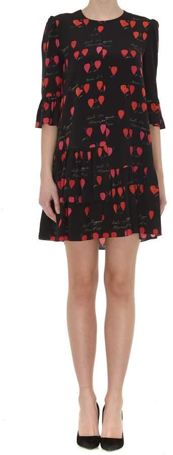 Petals Print Mini Dress
