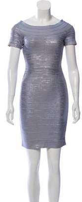 Herve Leger Carmen Bandage Mini Dress blue Carmen Bandage Mini Dress