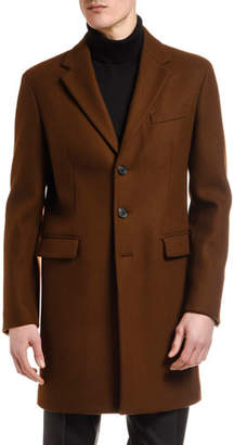 DSQUARED2 Men's Wool Three-Button Top Coat