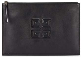 Givenchy Black Logo-debossed Leather Pouch