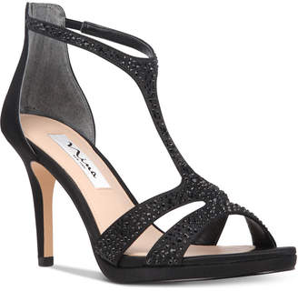 Nina Brietta T-Strap Evening Sandals Women's Shoes