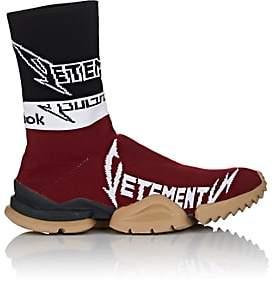 Vetements Men's Sock Runner Knit Sneakers - Wine, Blk