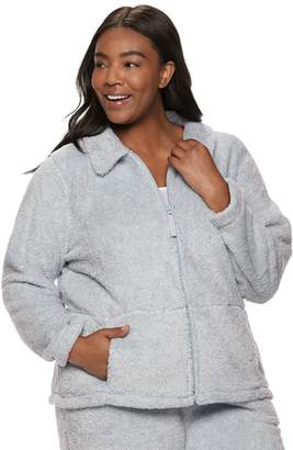 Croft & Barrow Plus Size Plush Jacket