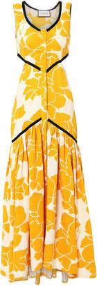 Alexis Cutout Floral Midi Dress
