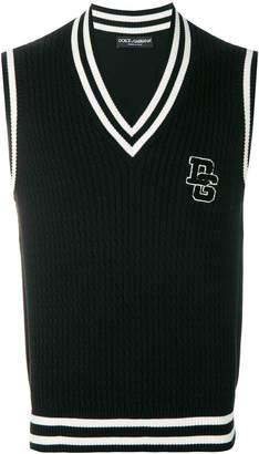 Dolce & Gabbana logo sweater vest