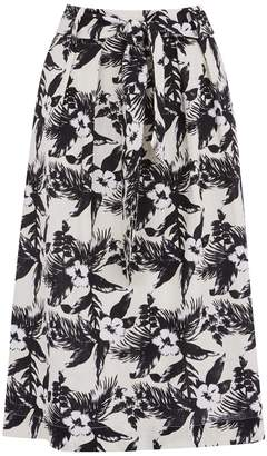 Oasis Havana tropical midi skirt