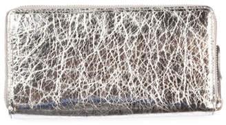 Balenciaga Bazar Crinkled Leather Wallet