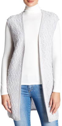 Kinross Cashmere Side Vent Fringe Vest $139.97 thestylecure.com