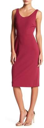 Betsey Johnson Crepe Scoop Neck Midi Dress