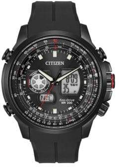 Citizen Eco-Drive Black Ion-Plated Promaster Air Chronograph Watch
