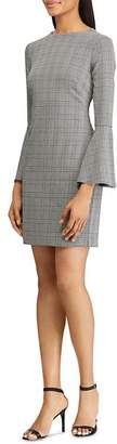 Ralph Lauren Glen Plaid Bell-Sleeve Dress