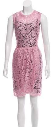 Dolce & Gabbana Lace Knee-Length Dress pink Lace Knee-Length Dress