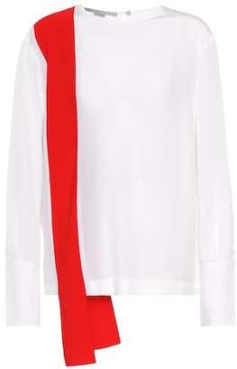 Stella McCartney Panelled silk blouse