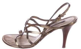 Louis Vuitton Metallic Leather Sandals