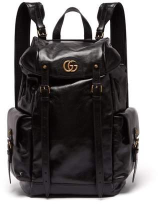 Gucci Re(belle) Leather Backpack - Mens - Black