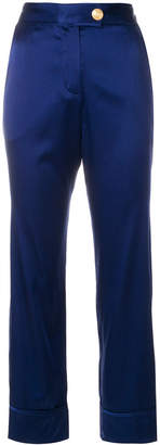Pierre Balmain tapered satin trousers
