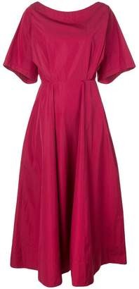 Derek Lam Cut Out Cotton Taffeta Midi Dress