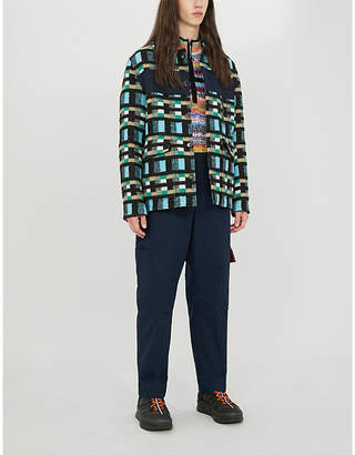 Kenzo Checked cotton and wool-blend jacket