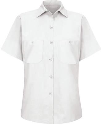 Wrangler Womens Industrial Short-Sleeve Work Shirt