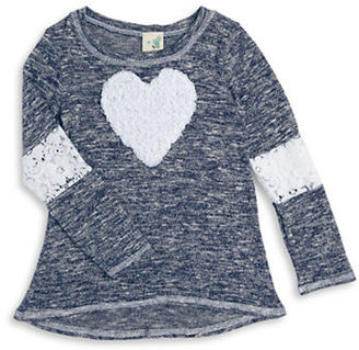 Lily Bleu Girls 2-6x Rosette Heart Knit Top $26 thestylecure.com