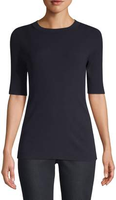 Lafayette 148 New York Ribbed-Knit Sweater