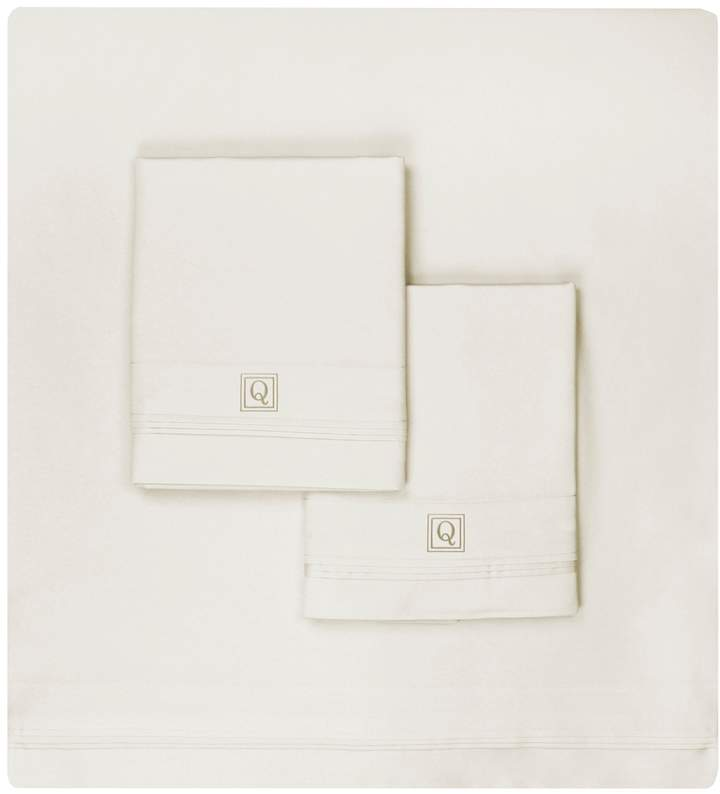 Luxor Linens Valentino 1200 TC Monogram Sheet Set (Queen)