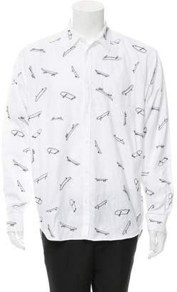 DSQUARED2 Trapez Button-Up Shirt w/ Tags