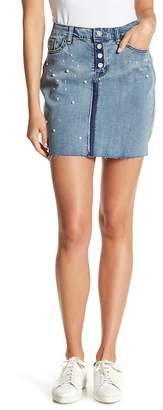 William Rast Tiff Denim Faux Pearl Skirt
