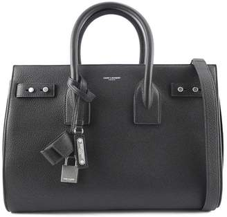 Saint Laurent Classic Sac De Jour Black Soft Grained Leather.