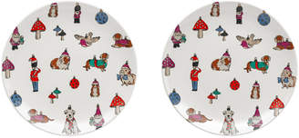 Cath Kidston Two Plates Novelty Baubles