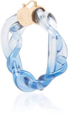 Marni Ocean Lucite Hoop Earrings
