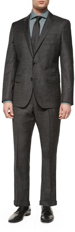 Hugo BossBoss Hugo Boss Slim Fit Broken Pindot Two-Piece Suit, Black
