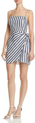 Aqua Striped Faux-Wrap Dress - 100% Exclusive