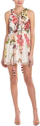 Rococo Sand Hemant and Nandita Floral Silk Shift Dress