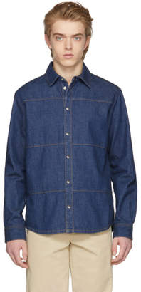 McQ Blue Denim Oddity Shirt