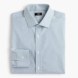 J.Crew Ludlow Slim-fit stretch two-ply easy-care cotton dress shirt in blue microstripe