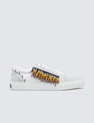 MSGM Lace Up Sneaker with Fringe