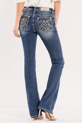 Miss Me Signature Embroidered Midrise-Bootcut