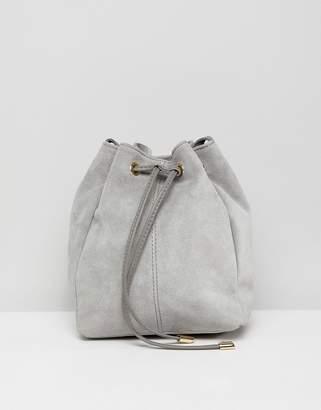 Asos Design DESIGN suede bucket bag