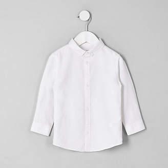 River Island Mini boys white button-down collar shirt