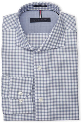 Tommy Hilfiger Atlantic Check Slim Fit Non-Iron Dress Shirt