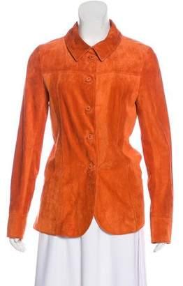 Bottega Veneta Suede Button-Up Jacket