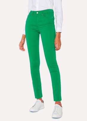Paul Smith Women's Skinny-Fit Green Denim Jeans
